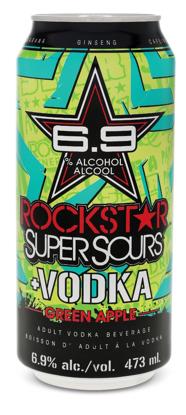 Rockstar Vodka Supersours Green Apple Liquor Depot Edmonton