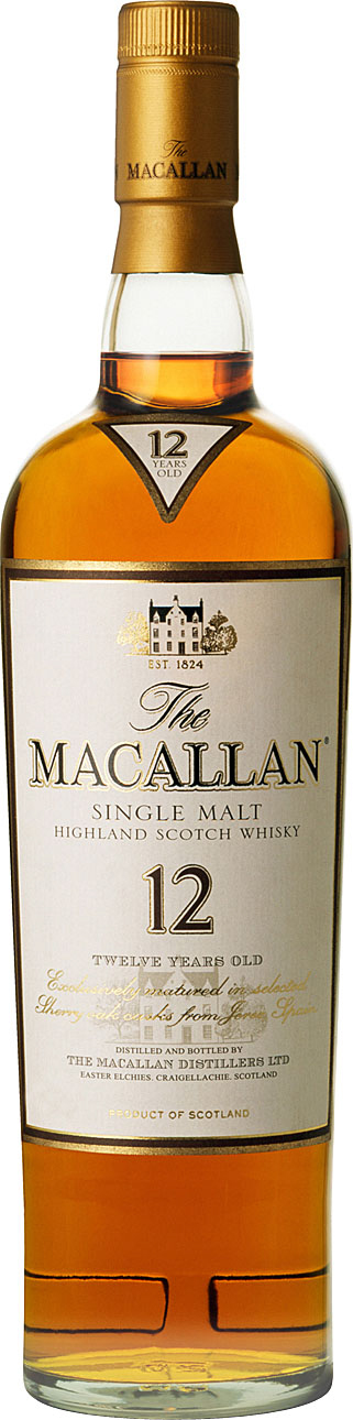 Macallan Single Highland Malt Scotch Whisky 12 year old