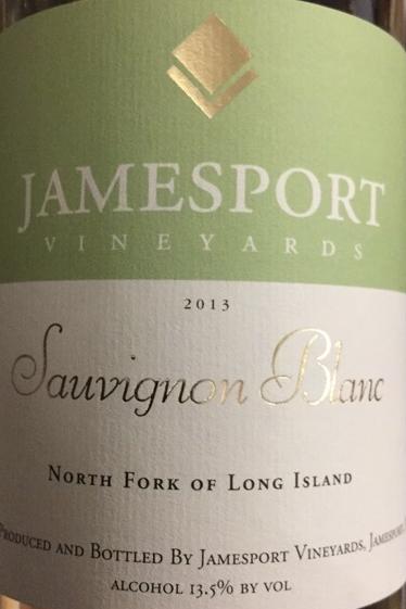 Jamesport Vineyards Sauvignon Blanc 2013
