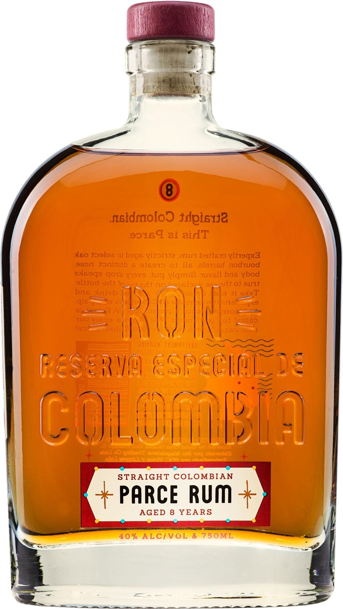 Parce Rum Straight Columbian Rum 8 year old