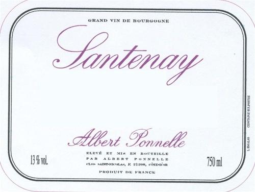 Albert Ponnelle Santenay 2013