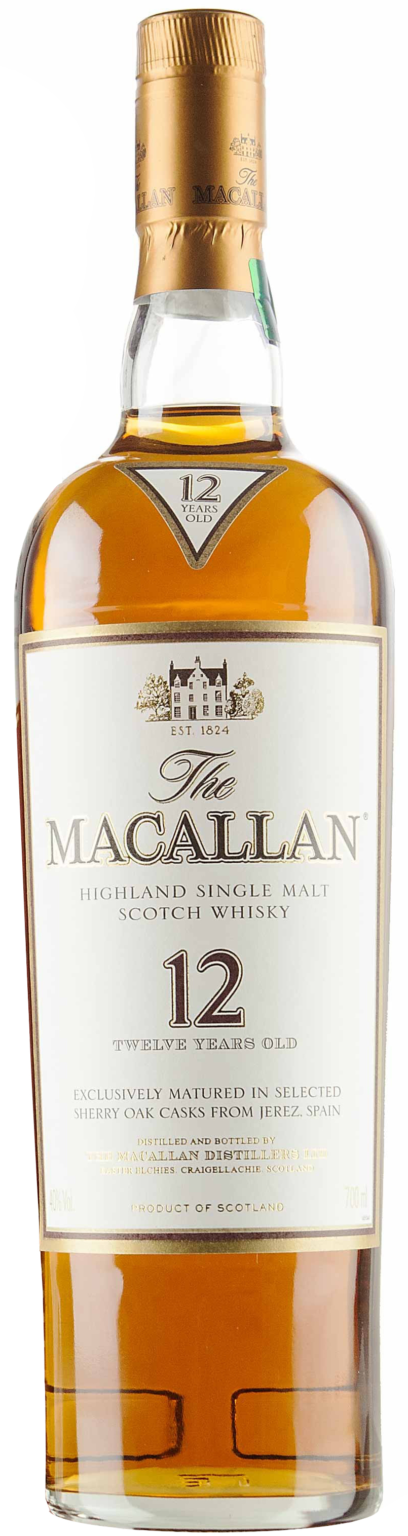 Macallan Single Malt Scotch Whisky 12 year old