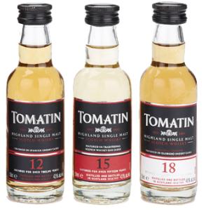 Tomatin Single Malt Scotch Whisky 12, 15, 18 year old Gift Set : Liquor Depot; Edmonton
