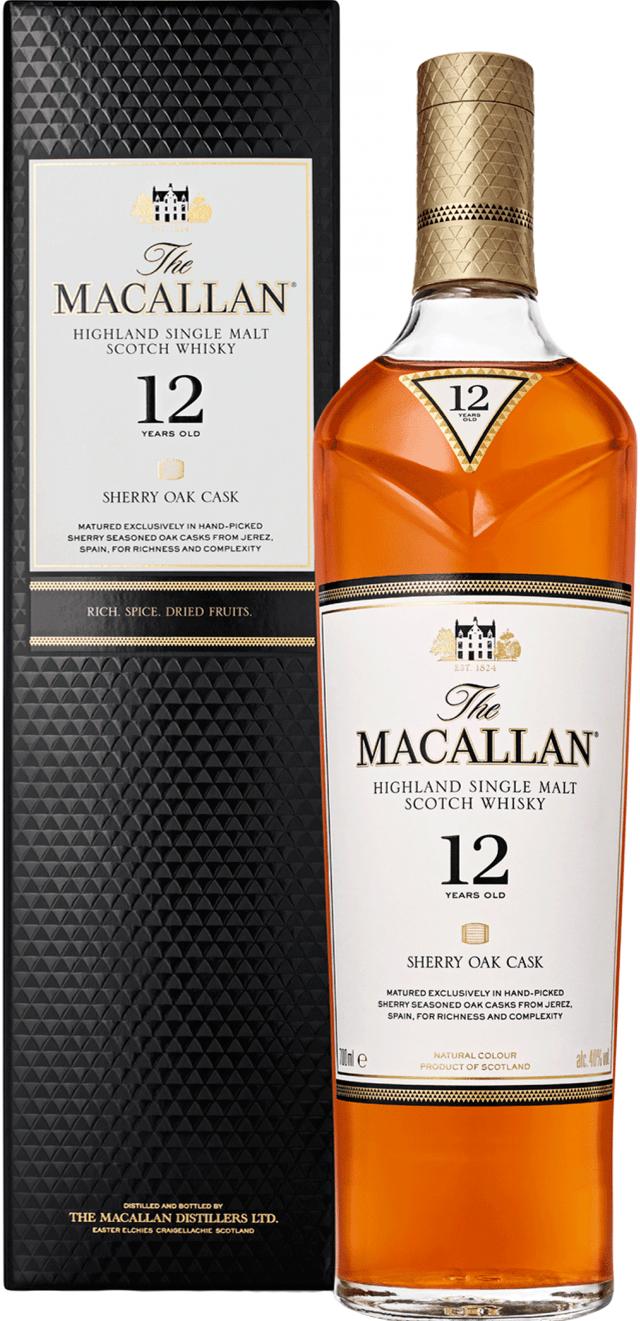 Macallan Sherry Oak Single Malt Scotch Whisky 12 year old