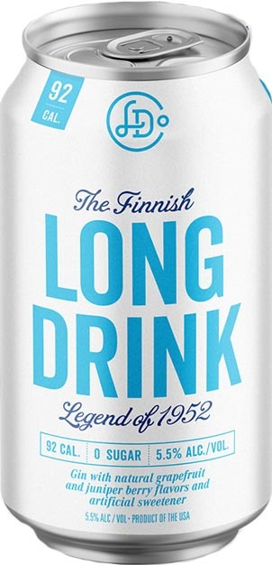 The Long Drink Company The Finnish Long Drink Gin Cocktail Zero Sugar