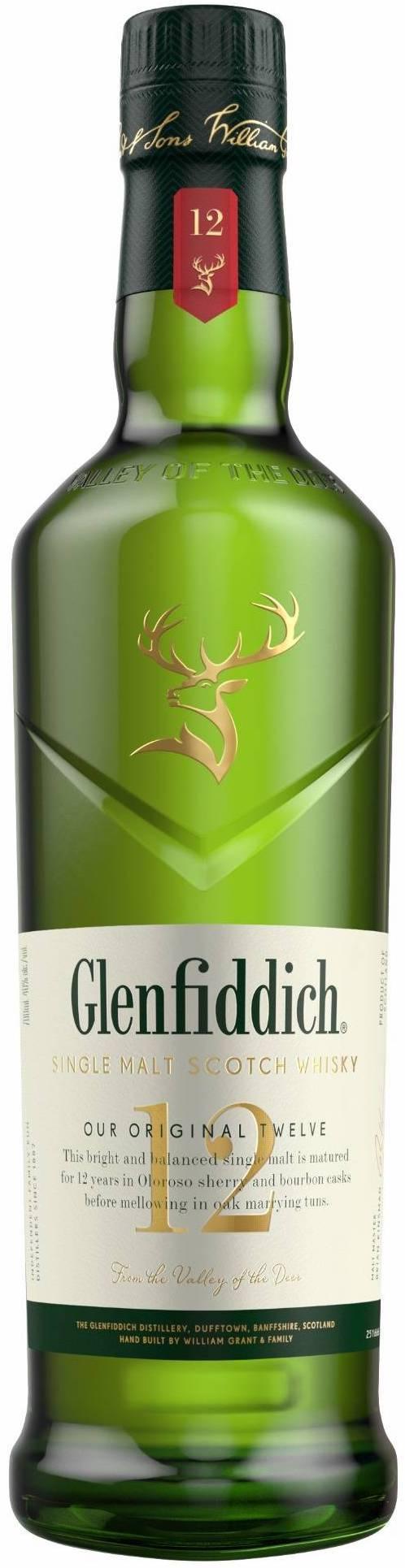 Glenfiddich Single Malt Scotch Whisky 12 year old