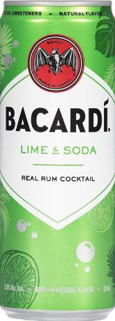 Bacardi Lime & Soda RTD Cocktail