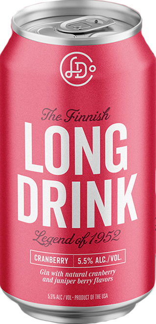 The Long Drink Company The Finnish Long Drink Gin Cocktail Cranberry