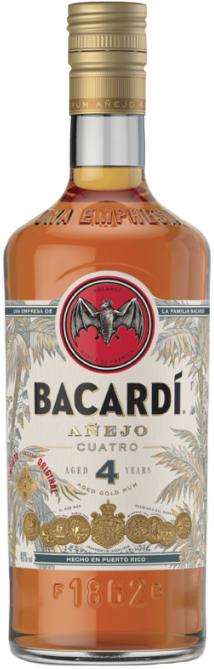 Bacardi Cuatro Anejo Rum 4 year old