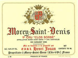 Henri Jouan Morey Saint Denis 1er Cru