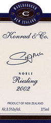 Konrad & Co. Noble Sigrun Late Harvest Riesling 2002