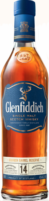Glenfiddich Bourbon Barrel Reserve Single Malt Scotch Whisky 14 year old