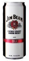 Jim Beam Kentucky Straight Bourbon Whiskey and Cola