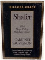 Shafer Hillside Select Cabernet Sauvignon 1994