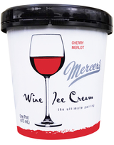 Mercer's Wine Ice Cream Cherry Merlot Ice Cream