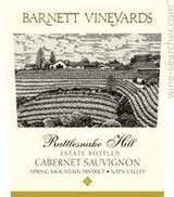 Barnett Vineyards Rattlesnake Hill Estate Cabernet Sauvignon 2016