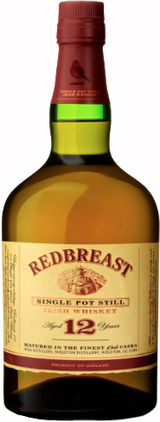 Redbreast Single Pot Still Irish Whiskey 12 year old