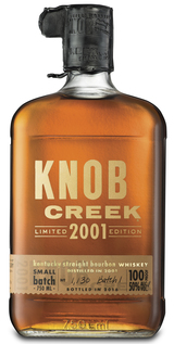 Knob Creek Limited Edition Small Batch Kentucky Straight Bourbon Whiskey Batch #1 2001
