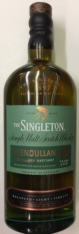 Singleton Single Malt Scotch Whisky of Glendullan 15 year old