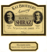 Kay Brothers Amery Vineyards Block 6 Shiraz 2003