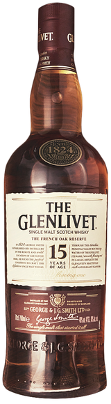 The Glenlivet Single Malt Scotch Whisky 15 year old