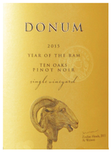 Donum Ten Oaks Pinot Noir 2015