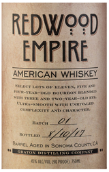 Graton Distilling Company Redwood Empire American Whiskey