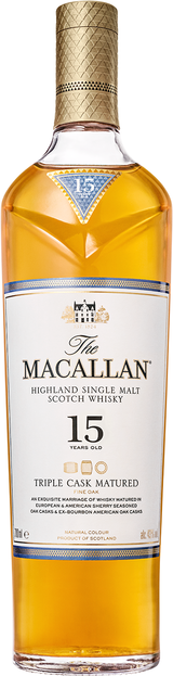 Macallan Triple Cask Single Malt Scotch Whisky 15 year old