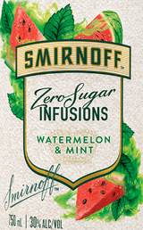 Smirnoff Zero Sugar Infusions Watermelon & Mint