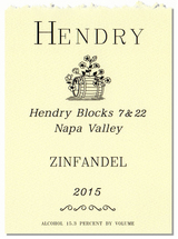 Hendry Blocks 7 & 22 Zinfandel 2015