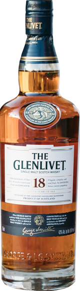 The Glenlivet Single Malt Scotch Whisky 18 year old