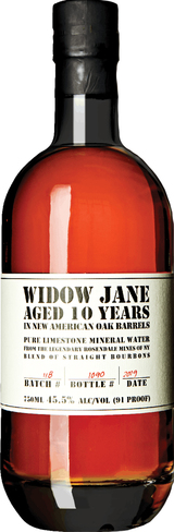 Widow Jane Bourbon Whiskey 10 year old