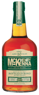 Henry McKenna Single Barrel Bottled in Bond Kentucky Straight Bourbon Whiskey 10 year old