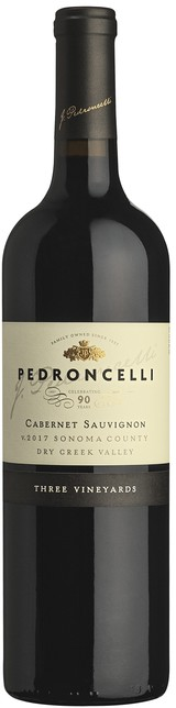 Pedroncelli Three Vineyards Cabernet Sauvignon 2017