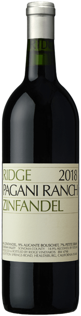 Ridge Vineyards Pagani Ranch Zinfandel 2018