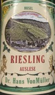 Dr. Hans VonMuller Riesling Auslese 2017