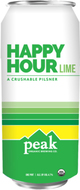 Peak Organic Brewery Company Happy Hour Lime Pilsener