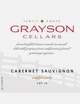 Grayson Cellars Lot 10 Cabernet Sauvignon 2018