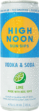 High Noon Spirits Sun Sips Lime Vodka & Soda