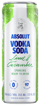 Absolut Lime & Cucumber Vodka Soda