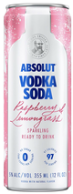 Absolut Raspberry & Lemongrass Vodka Soda